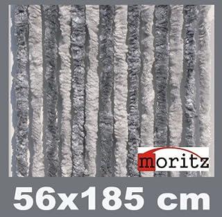 Moritz Cortina de tejido tipo chenille, mosquitera, 56&
