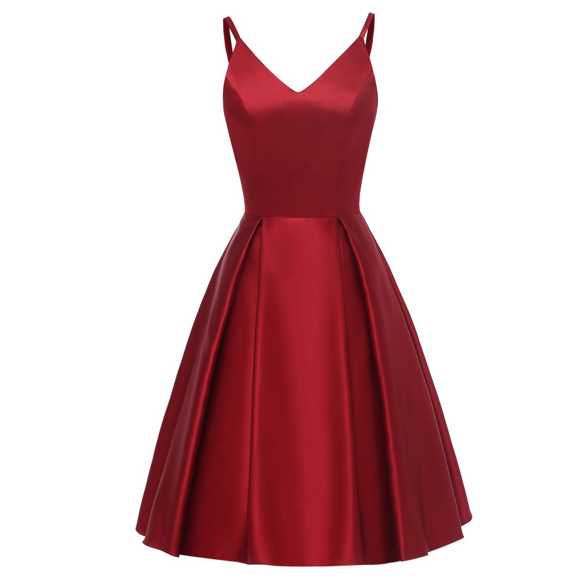 Available at Amazon: TTYbridal V-Neck Mini Dress Short Satin Prom Cocktail Gown With Pockets Hd11