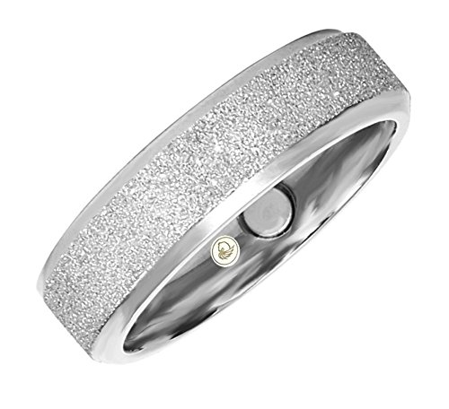 Fashion Magnetring Vintage 306 Saphire Diamantenstaub breit Silber Positive Power Ring Energetix 4you Partnerringe Eheringe - 18