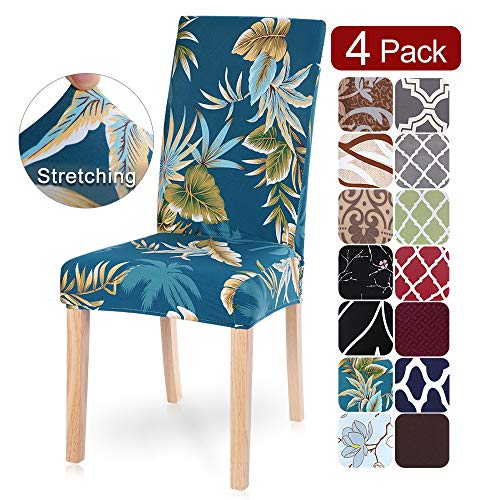 Mejor Turquoize Dining Room Chair Covers Stretch Dining Chair Slipcover Parsons Chair Covers Chair Furniture Protector Covers Removable Washable Chair Cover for Dining Room, Hotel, Ceremony (2, Grey) crítica 2020