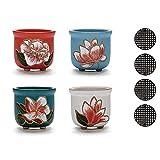 Macetas de cerámica para Plantas, macetas para Interiores, jardín, Juego de 4...