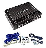 Rockford Fosgate R400-4D 400W 4 Channel Car Audio Amplifier + 4 Gauge Amp Kit