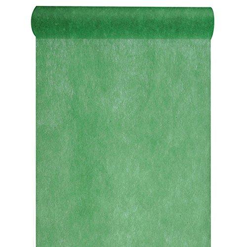 Discount Mariage - Chemin de table tissu non tissé uni vert fonce