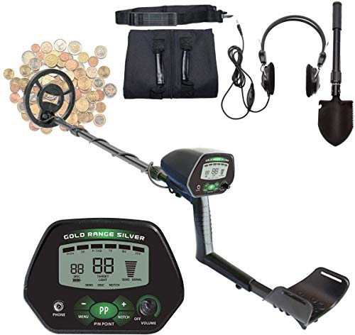 ToPicks Detector de metales profesional profesional con pantalla LCD, con pala plegable,...