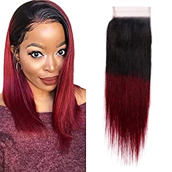 red and black sew in