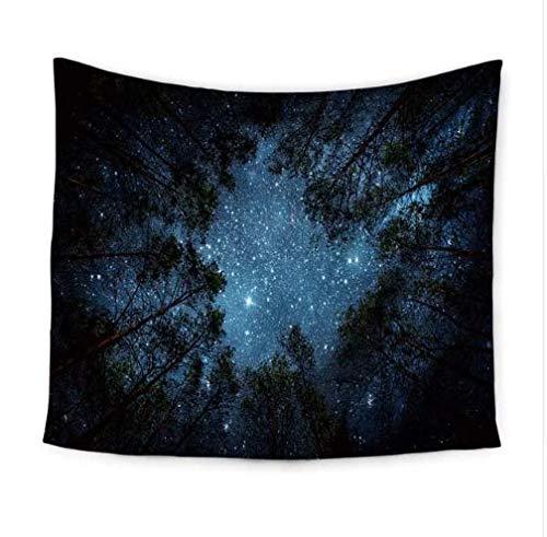 SoulSpaze Tapiz de Pared con diseño de Cielo Nocturno, Colgar en la Pared, diseño de Bosque Estrellado, tamaño 1