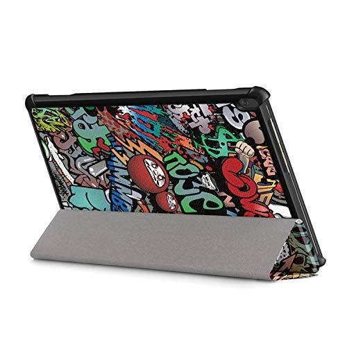 XITODA Hülle Kompatibel mit Lenovo Tab M10 TB-X605/TB-X505,PU Leder Tasche mit Stand Funktion Schutzhülle für Lenovo Tab M10 TB-X605F/L TB-X505F/L Case Cover,Graffiti