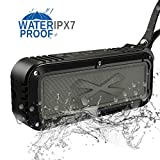 Outdoor Bluetooth Speaker,8Gtech Portable Waterproof Wireless Bluetooth Speaker with IPX7 Stereo HD Audio and Enhanced Bass,Dual Driver Speaker,Handsfree Calling,FM Shower Beach Radio (black01)
