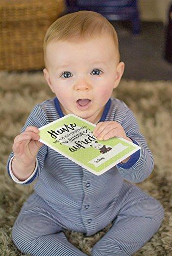 Baby Milestone Cards DEUTSCH – Meilenstein karten – 40 unisex Fotokarten – Geschenkset – Babyparty – Erstes Lebensjahr - 7