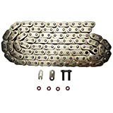 JINFANNIBI 428 Drive Chain 116 Links O-Ring With Connecting Master Link for Motorcycle ATV Dirt Bike