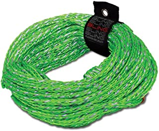 (2,375 lb. Tensile Strength, 2 Rider) - Airhead Bling 2 Rider 60' Green Tube Tow Rope