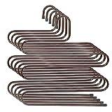 PETAFLOP - Perchas para pantalones, forma de S, 5 capas, ahorro de espacio, para...