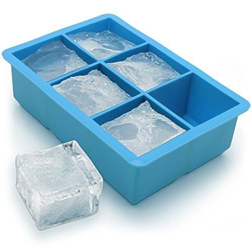 igadgitz Home U6786 Bac à Glaçons en Silicone Alimentaire 6 Cubes Extra Large - 1 Pack