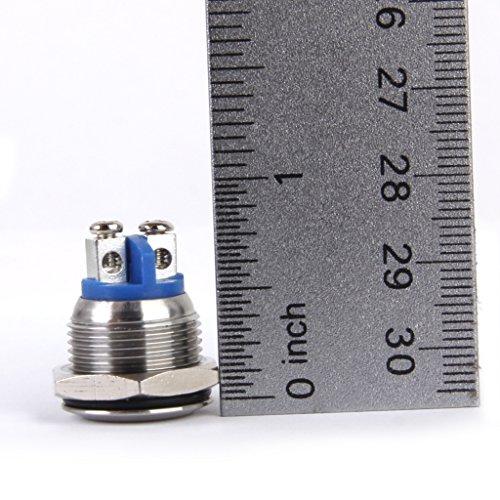 B Baosity Interruptor de Empuje Momentáneo de Metal 2 Uds para Coche, Barco Automático