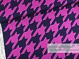 Mamasliebchen Jersey-Stoff BATkick #darkblue-neon pink (0,5