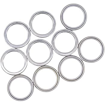 Front and Rear Differential Fill and Drain Plug Crush Washers Gasket Fits for Toyota 4Runner Tacoma FJ Cruiser Land Cruiser, Replacement for the part# 12157-10010, 10 Pack