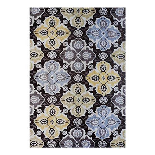 FHRDM Alfombra clásica para sala de estar, estilo granja, alfombra suave de pelo bajo, dormitorio, sofá, mesa auxiliar (color: tamaño B: 160 cm x 230 cm)