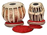 INVALID DATA S.A Trading Company 009 Copper Tabla Set with Bayan and Sheesham Wood Dayan, A Hammer,...