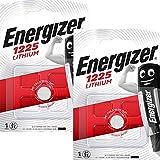 Energizer CR1225 BR1225 Lithium-Knopfzelle (3 V, Blisterverpackung) 2 Stück