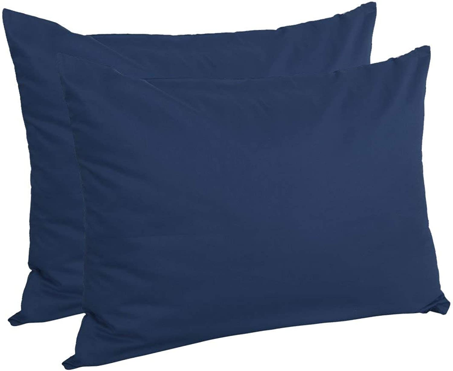 Standard (20\ x 26\), Navy bluee   Zippered Standard Pillow Cases Pillowcases Covers, Egyptian Cotton 300 Thread Count, 20 x 26 Inch, Navy bluee, Set of 2