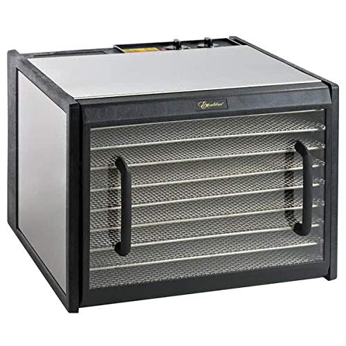 Excalibur D900CDSHD 9 Electric Food Dehydrator with Stainless Steel Trays and Clear Door Features 26-Hour Timer Temperature Settings and Auto Shu, Silver