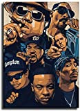Kribee Tupac Biggie Snoop Dogg Leinwand-Kunst-Poster und