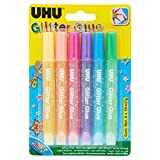 UHU Glitter Glue Shiny 6x10ml...
