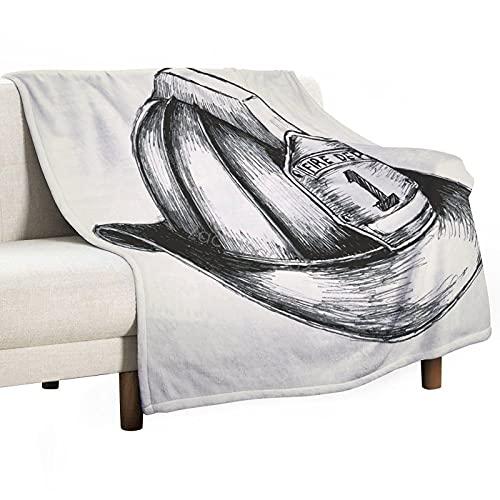 Manta para sofá, cama, camping, viajes, manta de franela súper suave y acogedora, regalo de Acción de Gracias, 125 x 150 cm