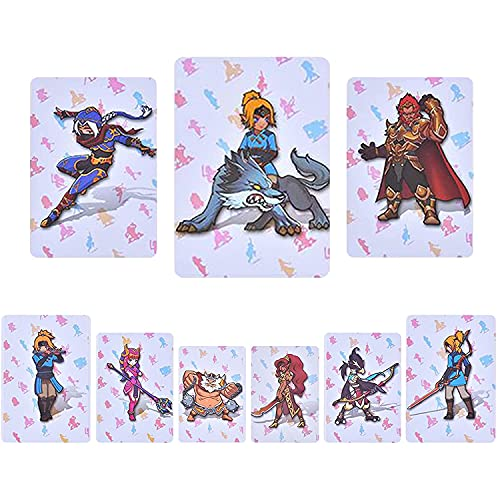 XUXIN 24 Pcs NFC Tag Game Card for The Legend of Zelda Breath of The Wild Switch/Switch Lite/Wii U with New Card