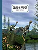 """Graph Paper Composition Notebook: Grid Paper Notebook, Quad Ruled With Caudipteryx Dinosaurs Cover Design 