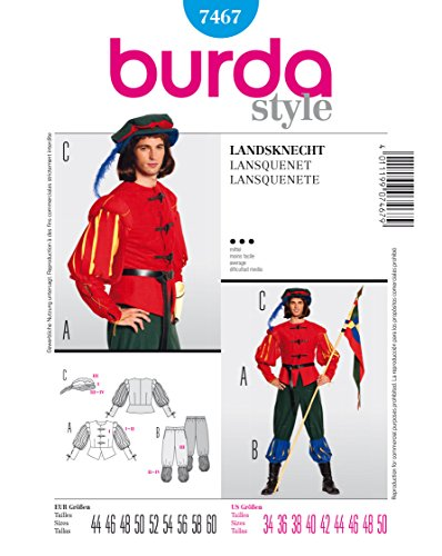 Burda Schnittmuster 7467 Landsknecht Gr. 44-60