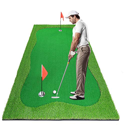 Luricaa Golf Putting Green Mat for Indoor Outdoor, Professional Golf Training Mat Aids for Professional Golf Practice (4x10 ft)