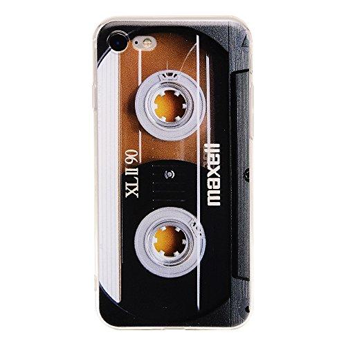 TNCYOLL Bumper Soft TPU Musik Kassette Tape Retro 80er Stil Amazing Back Cover Handyhülle kompatibel mit iPhone 7 iPhone 8