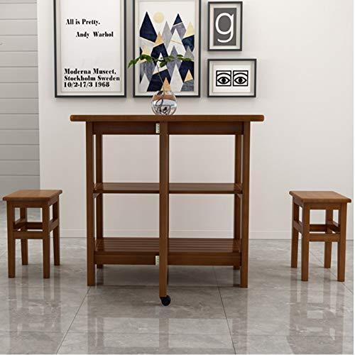 ZSYUN Plegable Mesa con sillas Gota Hoja Extensible multifunción ...