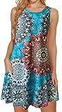 Tshirt Dresses for Women Summer Beach Boho Sleeveless Floral Sundress...