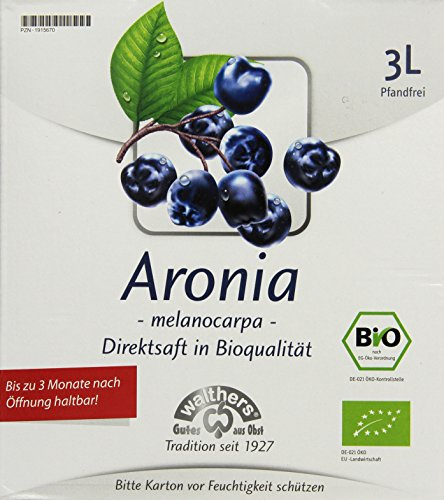 Walthers Bio Aronia Muttersaft (Direktsaft), 1er Pack (1 x 3 l Saftbox)