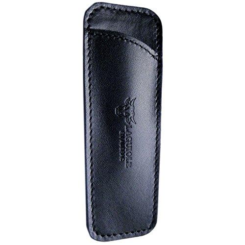 LAGUIOLE en Aubrac Stecketui, Leder, 10cm, handgemacht in Frankreich, schwarz PCA