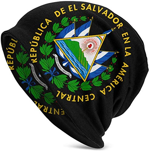 SVDziAeo EL Salvador Coat of Arms Jeans Adults Soft Slouchy Beanie Hats Daily Long Baggy Skull Cap one 31643
