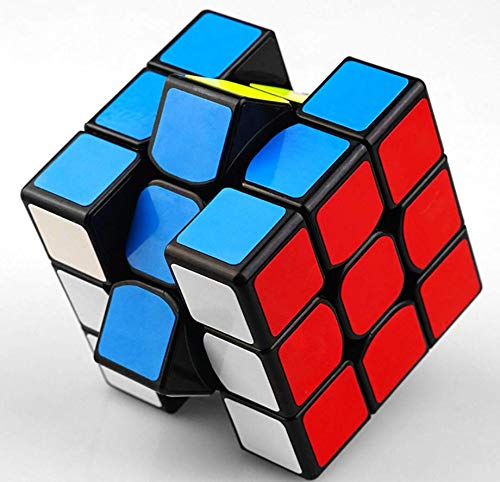cfmour Rube Cube Original 3x3 Colour-Matching Puzzle,Speed Cube,3x3 PVC Sticker Cube Puzzle Cube IQ Toys for Kids 56mm
