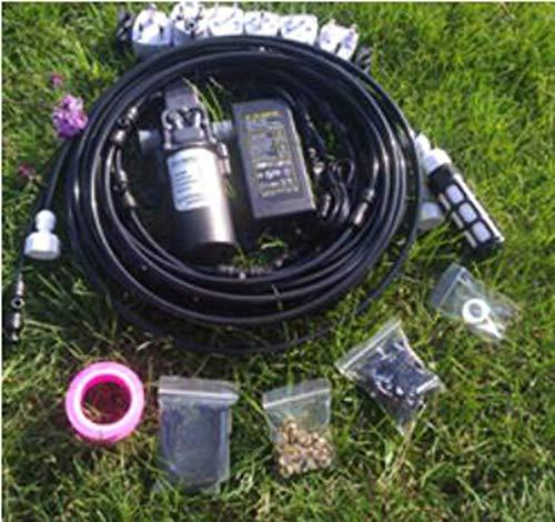 MEICHEN Rociador de Bomba de Agua de diafragma de Refuerzo de Alta presión 12V 5L / Min 160 PSI para Sistema de enfriamiento al Aire Libre,Negro