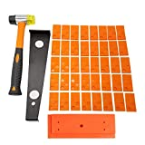 Wood Flooring Installation Kit 43 Pcs Laminate Vinyl Plank Flooring Assembly Tool with Spacers, Tapping Block,Heavy Duty Pull Bar,High-Strength Fiberglass Handle Mallet (Pull bar is 4mm Thick)¡