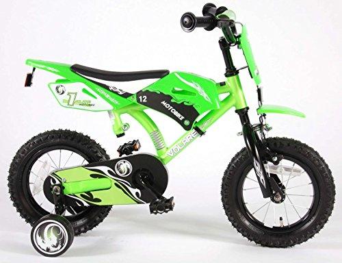 Volare Motobike Green, Bicicletta Bambino Ragazzi, Verde, Satin