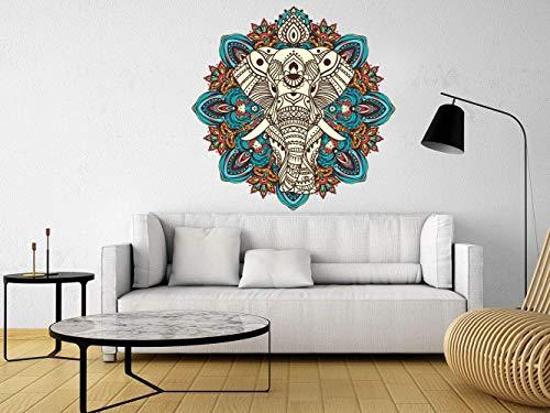 Vinilo Decorativo Pared Elefante Mandala   Varias Medidas 120x120cm   Pegatina Adhesiva Decorativa de Diseño Elegante