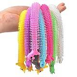 AINOLWAY Licorne Jouets de soulagement du Stress sensoriel Fidget Strings Jouet Extensible de Licorne pour Enfants et Adultes, Lot de 10 Cordes colorées