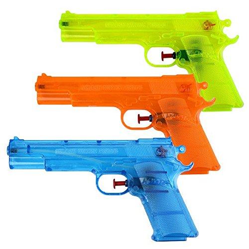 Schramm 3 Pezzi Pistole ad Acqua Classiche Pistole ad Acqua da ca. 20,6 cm Pistola ad Acqua