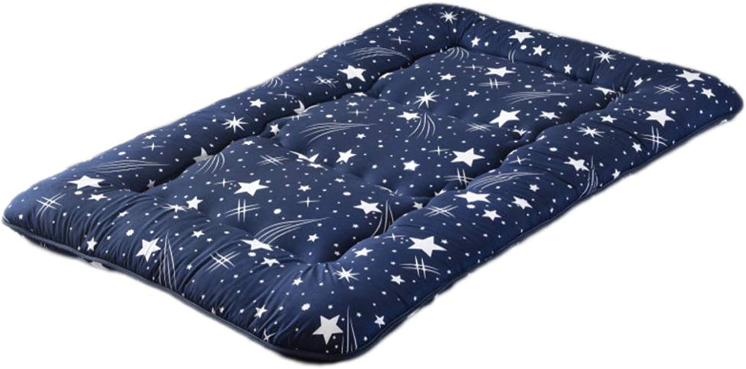 Breathable Soft Rolled Mattress, Folding Mattress Quilted Design Polyester Thick Anti-mite-A 180x220cm H 10cm