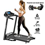 Dolphy Folding Treadmill with Safe Handlebar, LCD Display and MP3 USB Port Electric