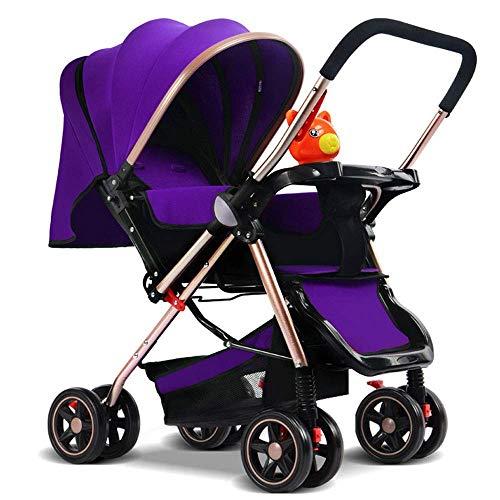 WRJY Cochecitos de bebé, cochecitos Baby Push Lite Shopper Neo Manijas Ajustables Cochecito Cochecito de bebé Edad 18 Meses - 3 años (Color: Verde), Color: Rojo (Color: púrpura)