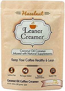 Leaner Creamer- Coffee Creamer Powder: Keto | Non-Dairy | Paleo | Sugar Free - Hazelnut (9.87oz Pouch)