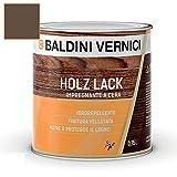 Impregnante per legno esterno interno a Cera Solvente Baldini Vernici 750 ml impregnante a cera per legno 9 colori impregnante baldini impregnante legno esterno interno (NOCE SCURO 706)